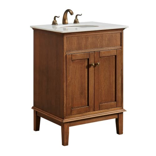24 In Single Bathroom Vanity Set In Chestnut Wood Walmart Com Walmart Com