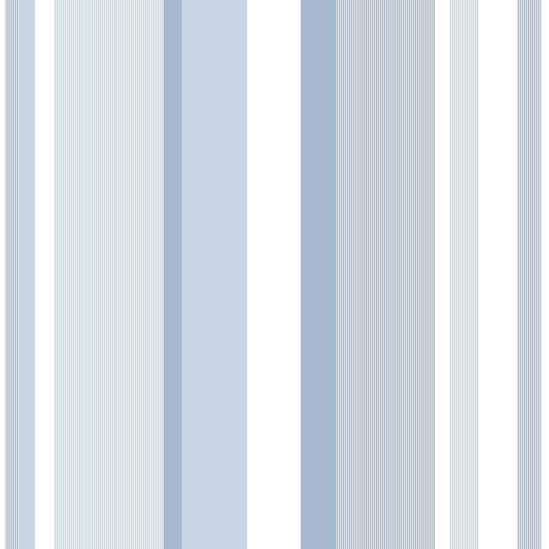 NuWallpaper Blue Awning Stripe Peel and Stick Wallpaper by NuWallpaper