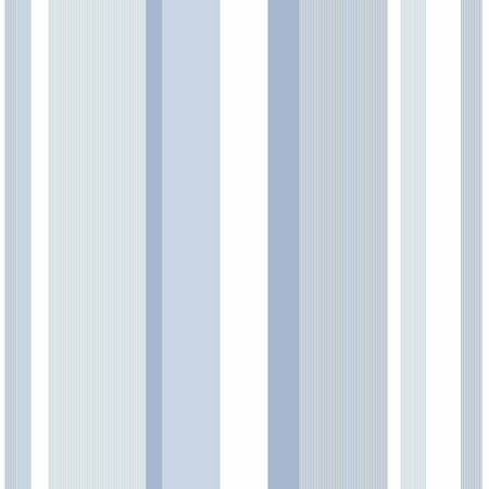 NuWallpaper Blue Awning Stripe Peel & Stick Wallpaper