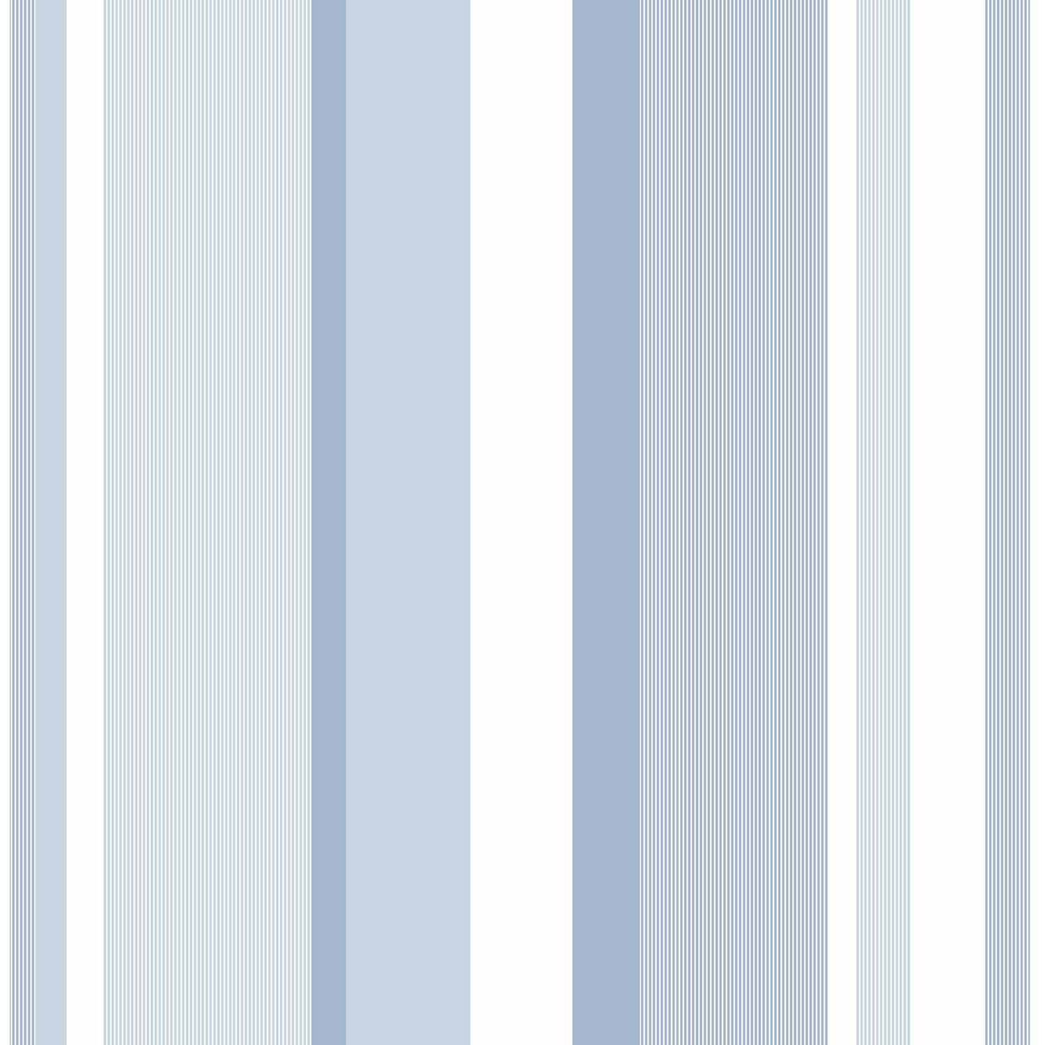 NuWallpaper Blue Awning Stripe Peel and Stick Wallpaper