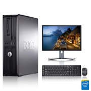 "Refurbished - Dell Optiplex Desktop Computer 1.8 GHz Core 2 Duo Tower PC, 2GB, 80GB HDD, Windows 10 Home x64, 17"" Monitor , USB Mouse & Keyboard"