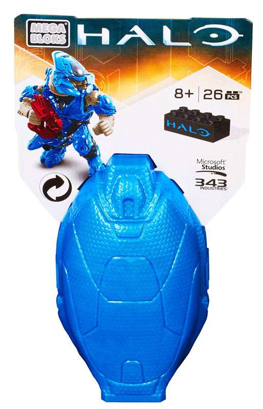 Halo Metallic Elite Drop Pod Set Mega Bloks 38316 [Blue] by Mattel
