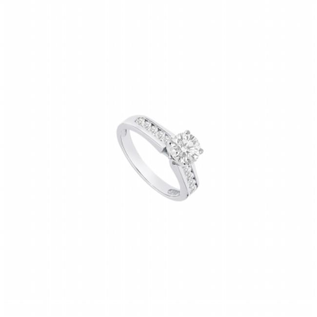 Fine Jewelry Vault UBJS512AAGCZ CZ Engagement Ring Sterling Silver - 1 CT TGW