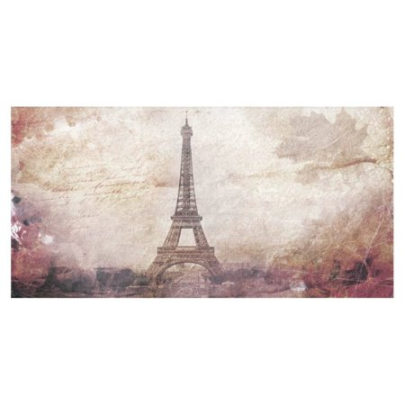 MYPOP Abstract Art of Eiffel Tower in Paris Tablecloth 52x70 Inches, France City Paris Tablecover Desk Table Cloth Cover for Dinner Party Decoration - Eiffel Tower Party Decorations