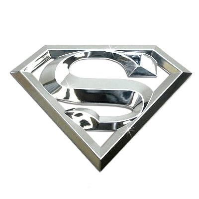 Superman 3D Chrome ABS Car Emblem 3d Chrome Car Emblem