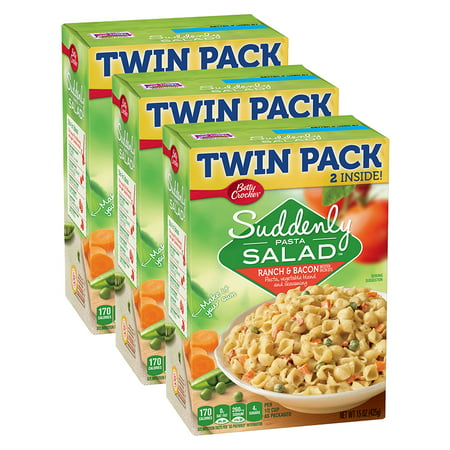 (3 Pack) Suddenly Salad Ranch & Bacon Pasta Salad Dry Meals Twin Pack 15 Oz](Halloween Themed Meals)