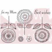 """Woodware Clear Stamps 3.5""""X5.5""""-Loopy Flowers"""