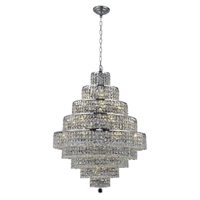 "Elegant Lighting Maxime 30"" 28 Light Spectra Crystal Chandelier - image 1 de 1"