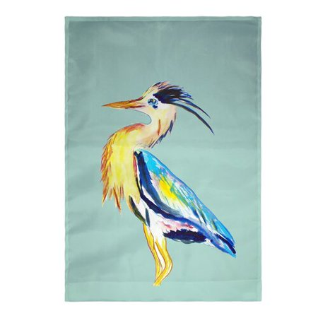Betsy Drake Interiors Blue Heron Vertical Flag