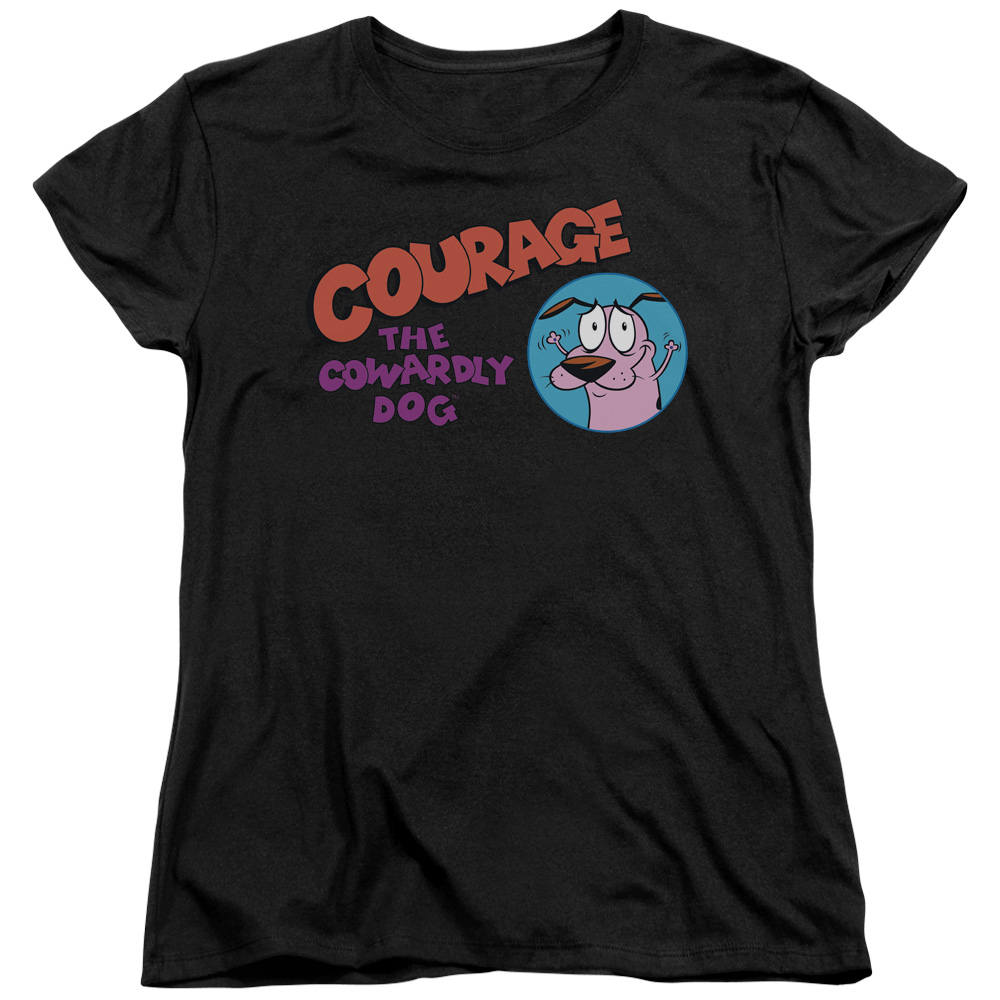 Courage The Cowardly Dog Courage Logo Womens Short Sleeve Shirt