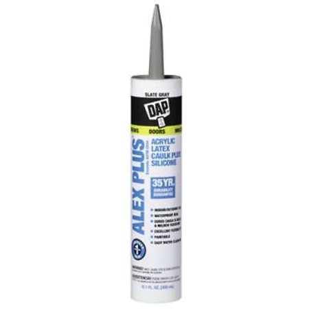 Alex Plus 10.1 oz Slate Gray Acrylic Latex Caulk With Silicone 4PK
