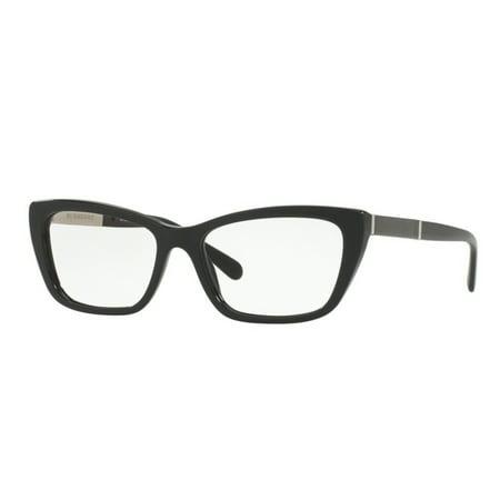 - Burberry BE2236F-3001 Cat Eye Women's Black Frame Genuine Eyeglasses NWT