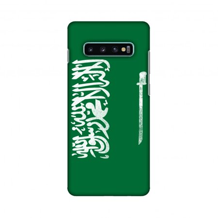 Samsung Galaxy S10+ Case, AMZER Ultra Slim Hard Shell Designer Printed Case for Samsung Galaxy S10+ - Football - Love For Saudi (Best Mobile In Saudi Arabia)