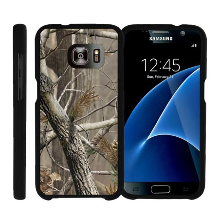 Samsung Galaxy S7 G930, [SNAP SHELL][Matte Black] 2 Piece Snap On Rubberized Hard Plastic Cell Phone Cover with Cool Designs - Hunter Camouflage