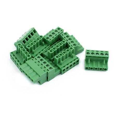 10Pcs 300V KF2EDGK 5 08mm Pitch 5-Pin PCB Screw Terminal Block