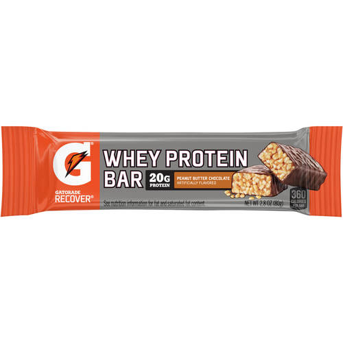 """Gatorade Recover® Whey Protein Bar Peanut Butter Chocolate 2.8 oz.""""12-pack"""""""