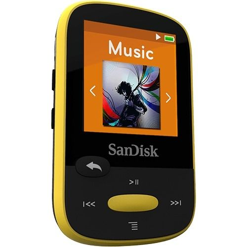 SanDisk Clip Sport 8GB Flash MP3 Player - Yellow