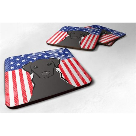 Carolines Treasures BB2165FC American Flag & Black Labrador Foam Coaster, Set of 4 - image 1 of 1