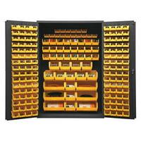 Durham MFG 2502-186-95 Bin Cabinet,Ind,16 ga,186Bins,Yellow