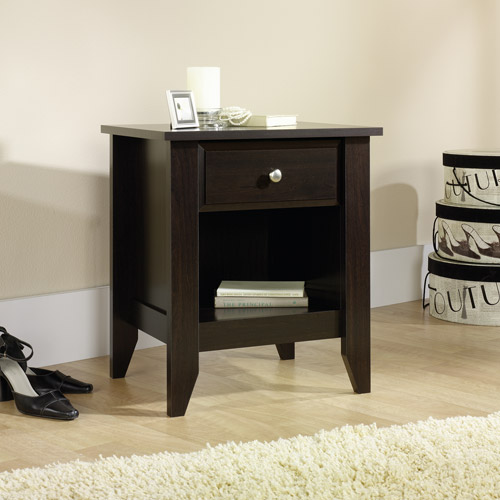 Sauder Shoal Creek Nightstand in Jamocha Wood Walmart