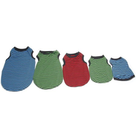 Fashionable Red Clothes Teddy Dog Colorful Strip Vest Pet Supplies For Dogs - image 7 de 8
