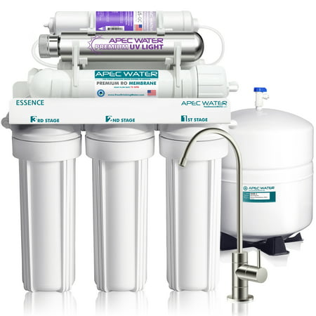 APEC pH+ Alkaline Mineral UV Sterilizer 75 GPD 7-Stage Under-Sink Reverse Osmosis Drinking Water Filter System (Essence ROES-PHUV75)