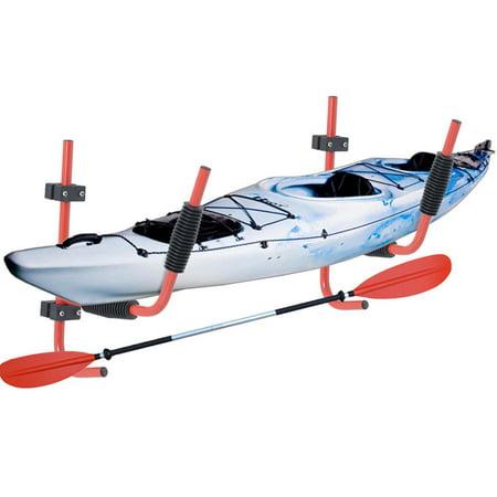2 Sets Steel Kayak Ladder Wall Mount Storage Rack Surfboard Canoe Folding Hanger (Ladder Mounted Chair Rack)