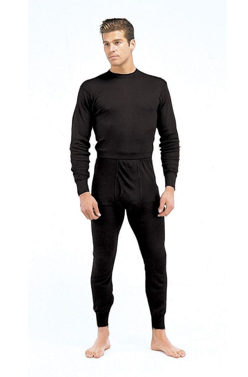 Black Polypropylene Thermal Long Underwear Pants Bottom by Rothco