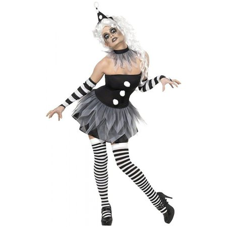 Sinister Pierrot Adult Costume - Large