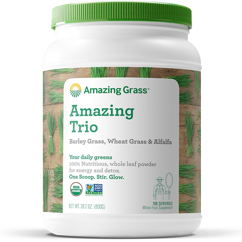 Amazing Grass Amazing Trio Alfalfa, Barley, & Wheatgrass Powder, 100 Servings