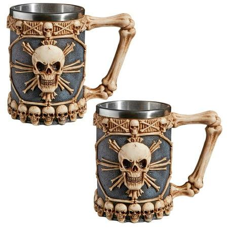 Design Toscano Skullduggery Tankard Mug: Set of