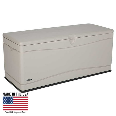 Lifetime 130 Gallon Heavy-Duty Outdoor Storage Deck Box, Desert Sand ()