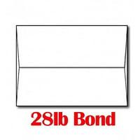 "28lb/70lb Bright White A7 Envelopes (5 1/4"" x 7 1/4"") - 100 Envelopes - Limited Papers™ Brand Envelopes"