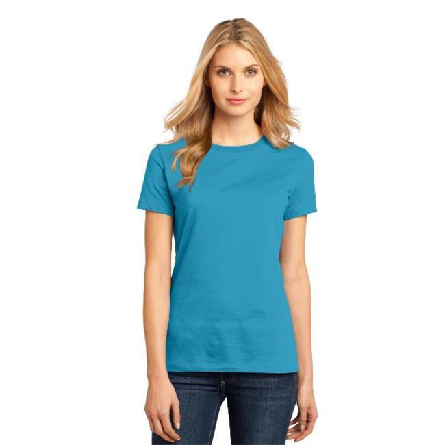 District Made® - Ladies Perfect Weight® Crew Tee. Dm104l Bright Turquoise M - image 1 of 1