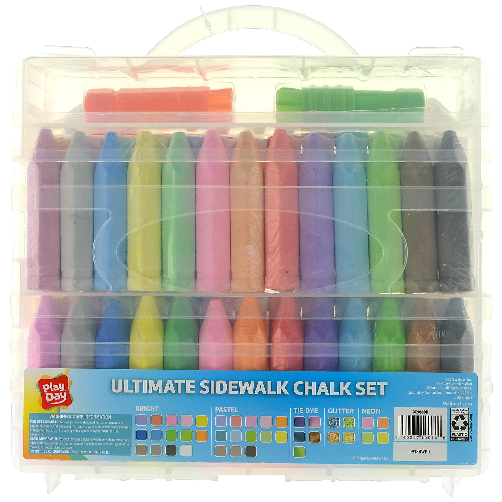 Play Day Ultimate Sidewalk Chalk Set, 80 Pieces
