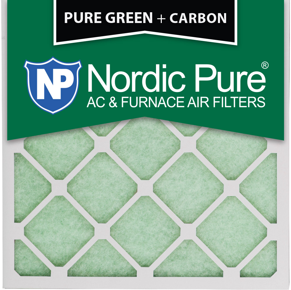 Nordic Pure 20x20x1 Pure Green Plus Carbon AC Furnace Air Filters Qty 3