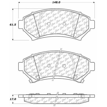 Go-Parts OE Replacement for 1997-1999 Buick Riviera Front Disc Brake Pad Set for Buick Riviera