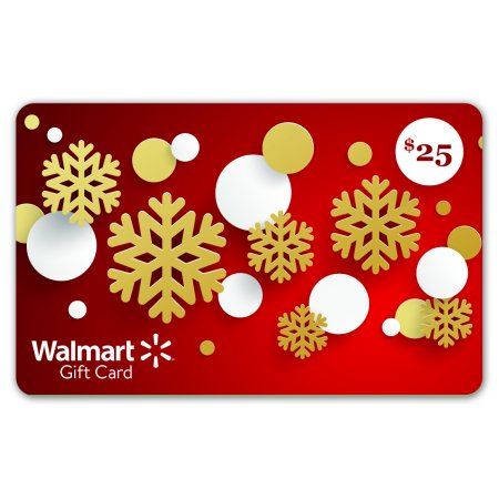 Red Snowflakes Walmart Gift Card