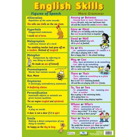Skills Poster Set (English Language Skills Poster - 16x24 )