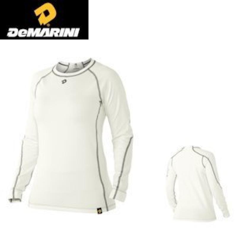 DeMarini Women's Comotion Swing Sleeve Shirt, White, Large