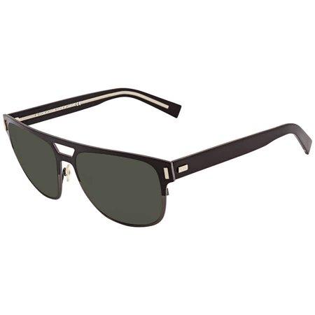 Dior Blacktie Green Round Men's Sunglasses BLACKTIE2.0S F AY857F2 (Christian Dior Sunglasses For Men)