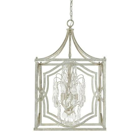 Capital Lighting Blakely Antique Silver 4 Light Foyer Fixture
