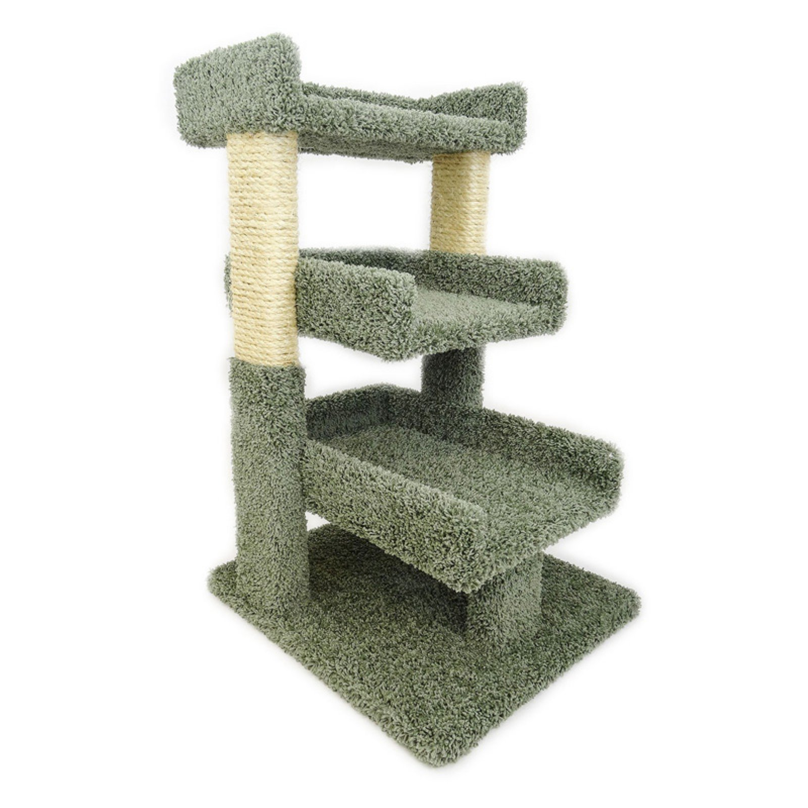 New Cat Condos Triple-Level Cat Perch 33 in., Green