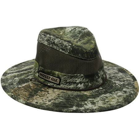 Mossy Oak Camo Mesh Safari Hat, Mossy Oak Mountain Country Range Camo