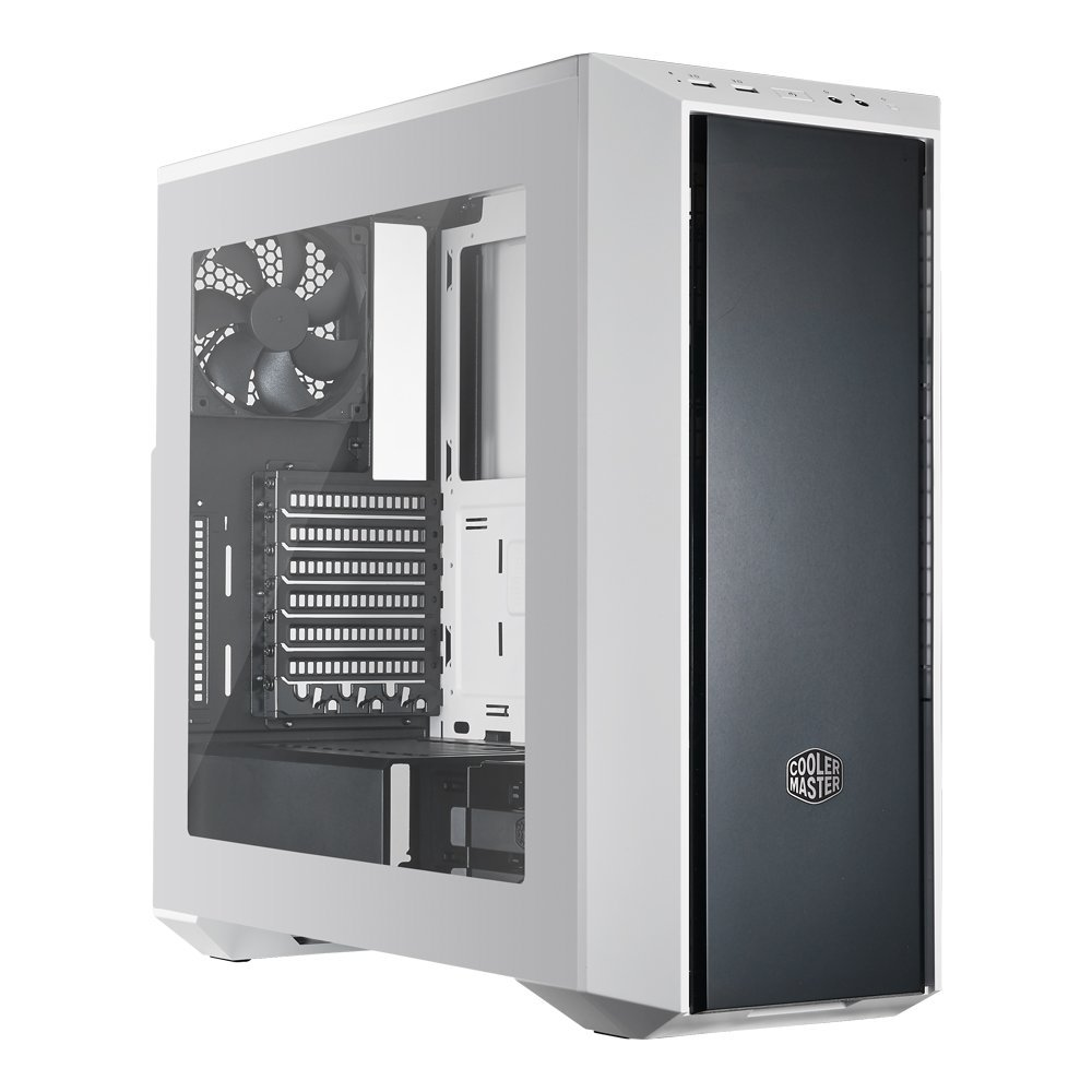 Click here to buy MasterBox 5 Black & White Mid-tower Computer Case with Internal Configuration, ATX, Micro ATX, Mini ITX... by Cooler Master.