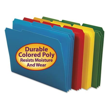 Smead Waterproof Poly File Folders  1 3 Cut Top Tab  Letter  24 Box