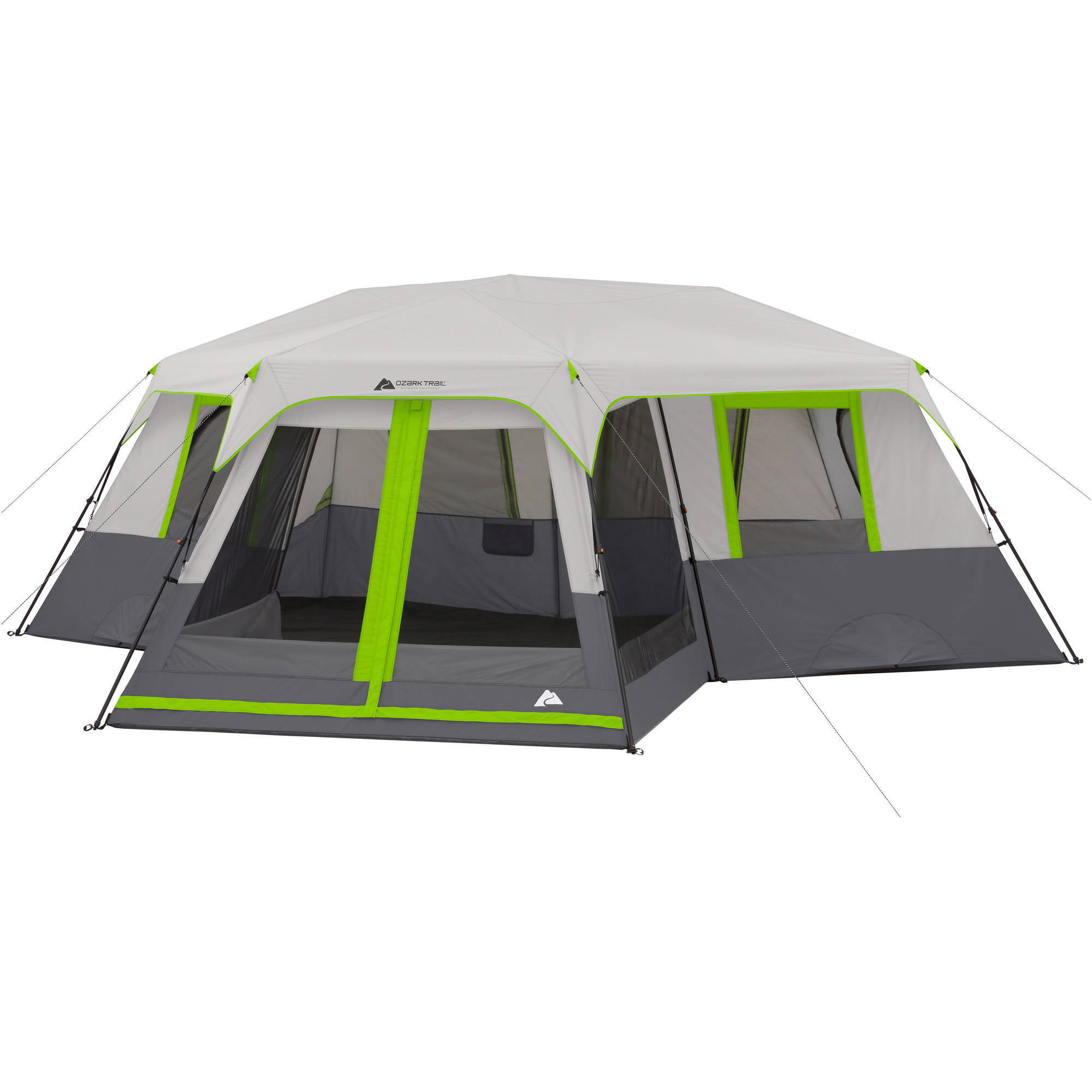 Ozark Trail 12-Person 3 Room Instant Cabin Tent with Screen Room - Walmart.com  sc 1 st  Walmart & Ozark Trail 12-Person 3 Room Instant Cabin Tent with Screen Room ...