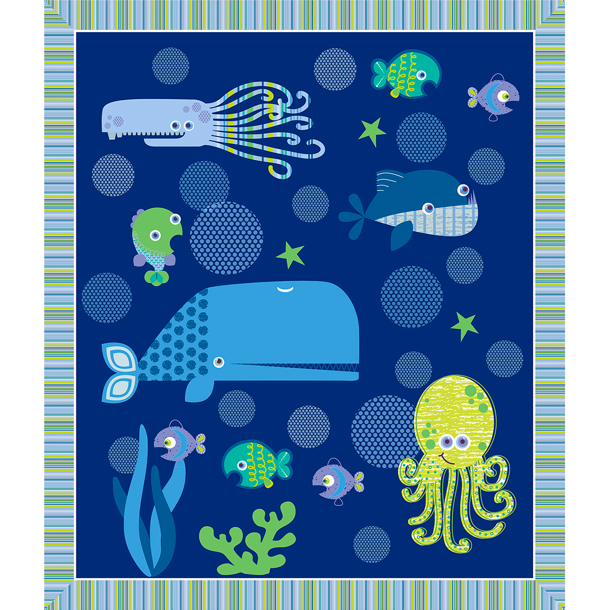 Deep Sea Fusible Applique Quilt Kit-