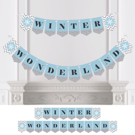 Winter Wonderland - Winter Wedding Bunting Banner - Snowflake Party Decorations - Winter Wonderland