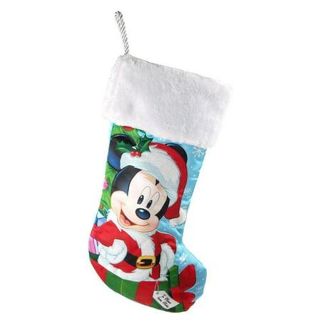 santa mickey mouse christmas stocking 18 inch - Mickey Mouse Christmas Stocking